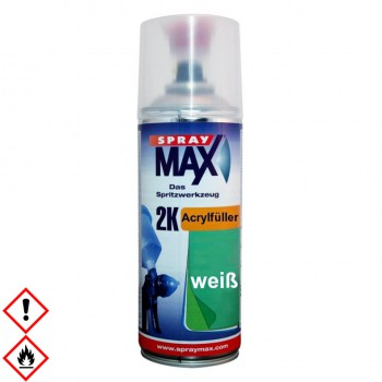 2K Acrylfüller weiss, SprayMax Spraydose, 400 ml