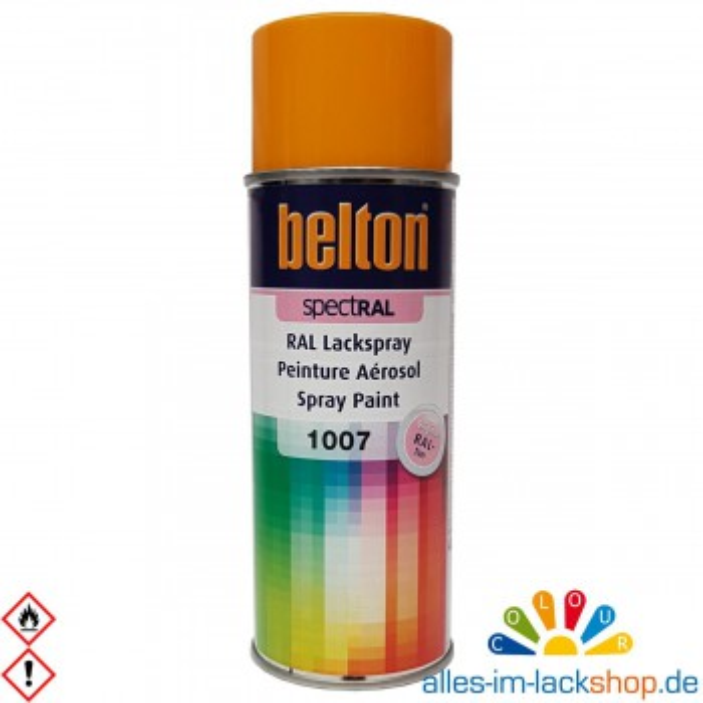 Belton Spectral RAL 1007 Lackspray Spaydose 400ml RAL Sprühdose Lackspray