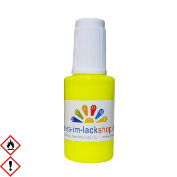 Pinselflasche Neongelb Leuchtgelb RAL1026 Tagesleuchtfarbe Neonfarbe