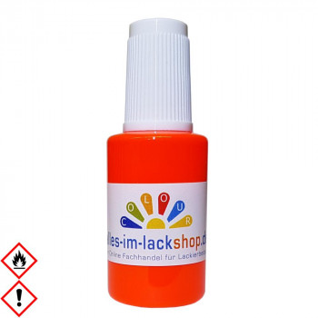 Pinselflasche Neonorange RAL 2005 Leuchtfarbe Tagesleuchtfarbe Neonfarbe