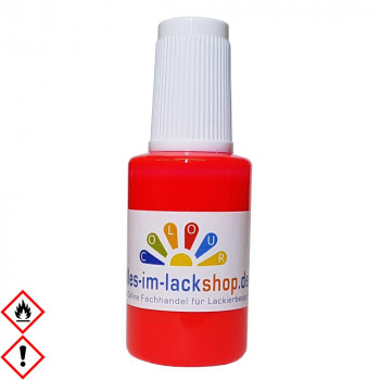 Pinselflasche Neonpink Leuchtfarbe Tagesleuchtfarbe Neonfarbe