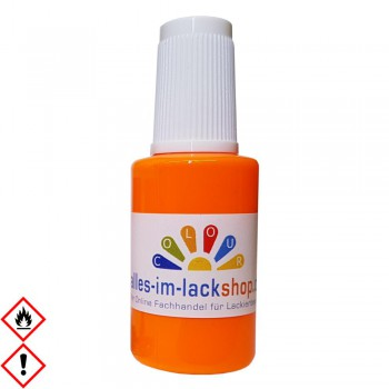 Pinselflasche Neonhellorange RAL 2007 Leuchtfarbe Tagesleuchtfarbe Neonfarbe