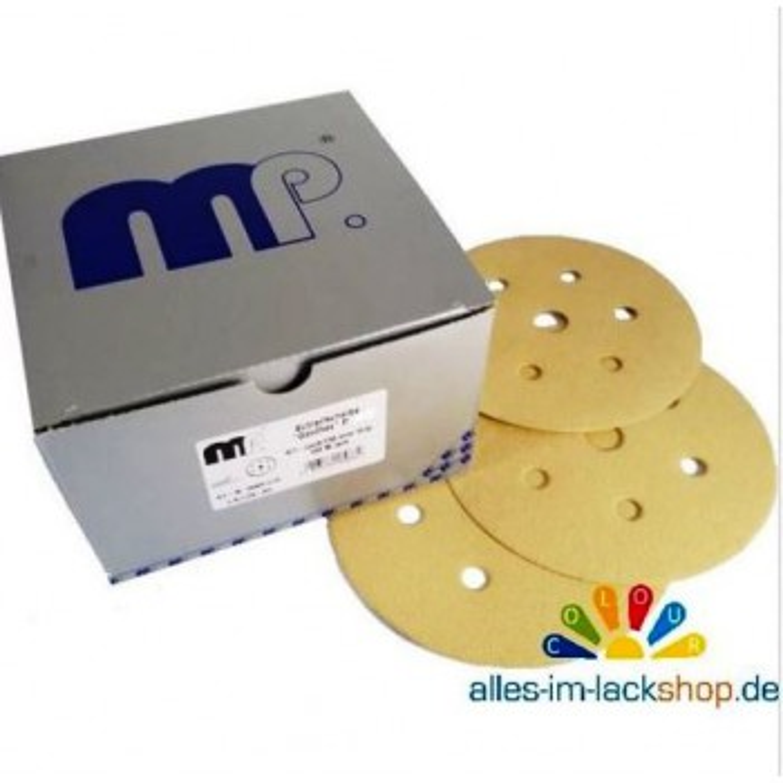 100 Schleifscheiben Klett Exzenter D150mm 6 Loch P320 GoldPlus mp