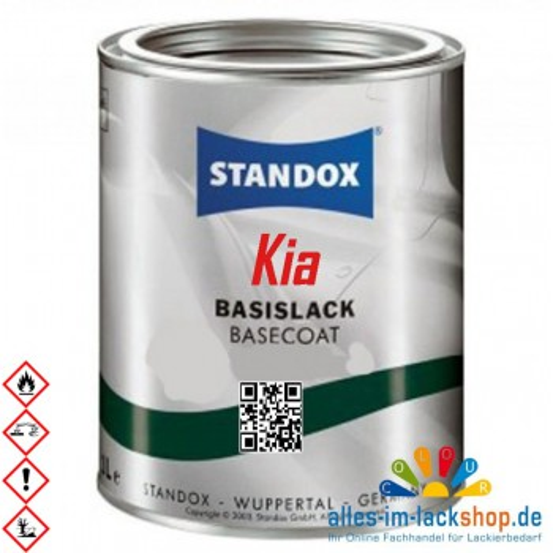 Autolack KIA STANDOX Metallic Basislack für Lackierpistole