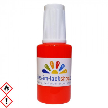 Pinselflasche Neonrot RAL 3024 Leuchtfarbe Tagesleuchtfarbe Neonfarbe