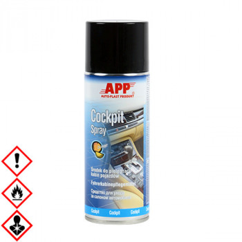 Cockpit Spray, Innenraumspray, Armaturenreiniger, silikonfrei 400 ml, APP 212019