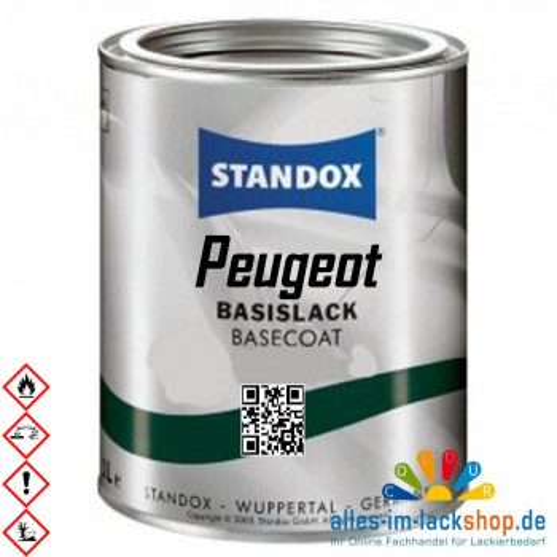 Autolack PEUGEOT STANDOX Metallic Basislack für Lackierpistole