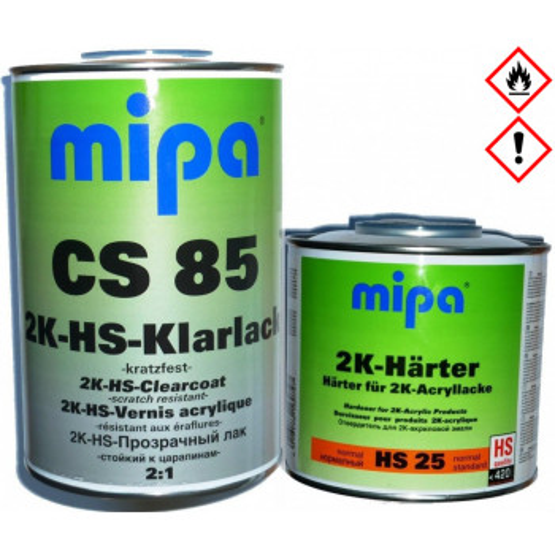 Klarlack CS 85 2K-HS 1Liter + 0,5L 2K Härter HS 25 von MIPA