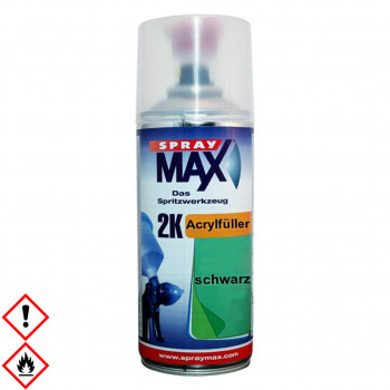 2K Acrylfüller schwarz, SprayMax Spraydose, 400ml