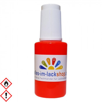 Pinselflasche Neonhellrot RAL 3026 Leuchtfarbe Tagesleuchtfarbe Neonfarbe