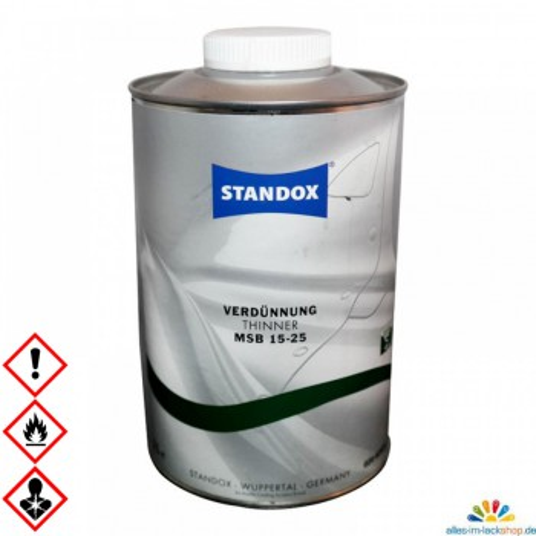 Basislack Verdünnung MSB 15-25 für Autolacke und Motorradlacke von Standox, 1 Liter