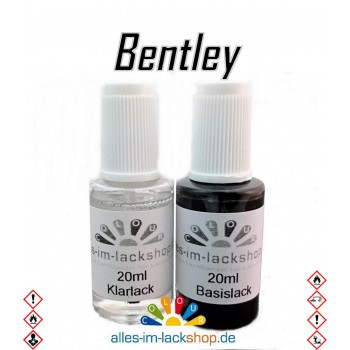 Lackstift BENTLEY Autolack Tupflack Pinselflasche 20ml Set Farbcode