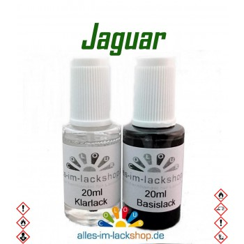 Lackstift JAGUAR Autolack Tupflack Pinselflasche 20ml Set Farbcode