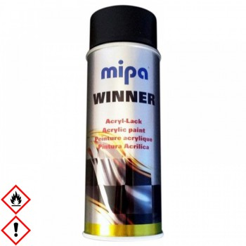Mipa Winner Spray-Lack Acryl schwarz matt 400 ml