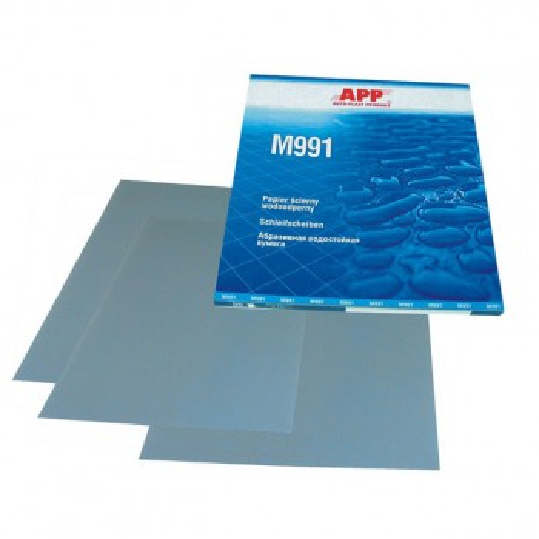 Nass-Schleifpapier Schleifbögen Wasserfest P1200 1x