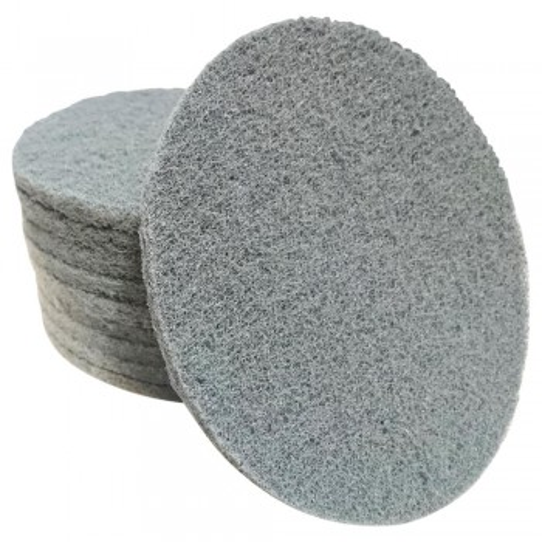 Runde Schleifvliespads grau 150mm 10 Stück