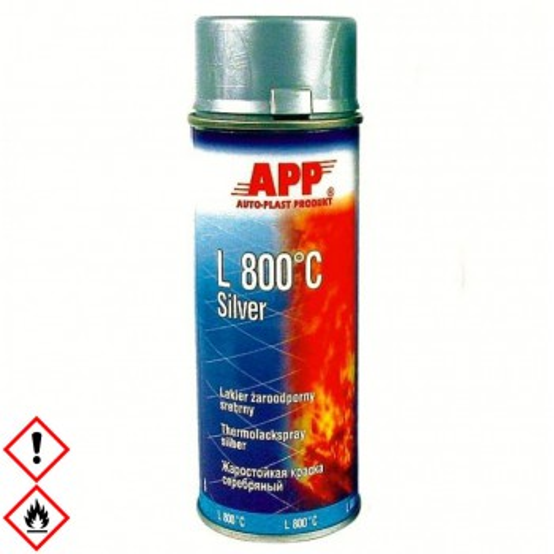 Thermolack, Ofenlack, Auspufflack, Motorlack, Krümmerlack 400ml Spray, hitzefest silber 800 Grad