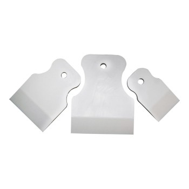 Weicher Gummispachtel, Schaufelspachtel, Spatel Set 80mm, 60mm, 40mm