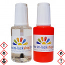 Pinselflasche Neonrot RAL 3024 Leuchtfarbe Tagesleuchtfarbe Neonfarbe 2er Set
