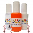 Pinselflasche Neonorange RAL 2007 Leuchtfarbe Tagesleuchtfarbe Neonfarbe 3er Set