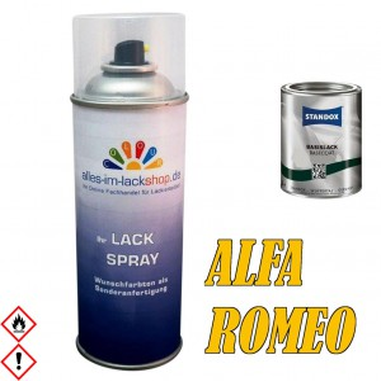 AUTOLACK ALFA ROMEO Spraydose 400ML Farbcode