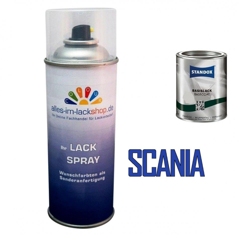 lkw lack scania spraydose 400ml farbcode. Black Bedroom Furniture Sets. Home Design Ideas