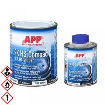2K HS Acrylfiller, 2K Füller inkl. Härter Autofüller Schleiffüller 5:1 app compact