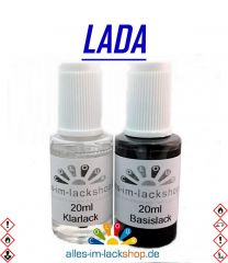 Lackstift LADA Autolack Tupflack Pinselflasche 20ml Set Farbcode