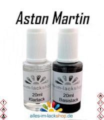 Lackstift ASTON MARTIN Autolack Tupflack Pinselflasche 20ml Set Farbcode
