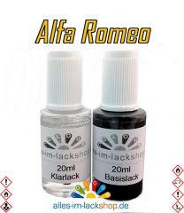 Lackstift ALFA ROMEO Autolack Tupflack Pinselflasche 20ml Set Farbcode