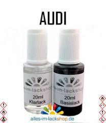 Lackstift AUDI Autolack Tupflack Pinselflasche 20ml Set Farbcode