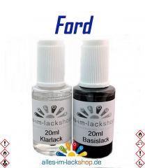 Lackstift FORD Autolack Tupflack Pinselflasche 20ml Set Farbcode