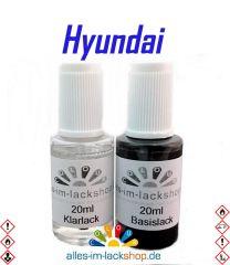 Lackstift HYUNDAI Autolack Tupflack Pinselflasche 20ml Set Farbcode