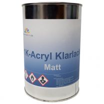 Acryl Klarlack Matt 1K 1 Liter AIL Acryl-Klarlack zum spritzen oder streichen