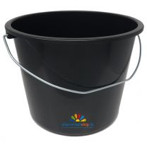 12 Liter Eimer aus stabilem Kunststoff mit Skalierung Baueimer Schutteimer