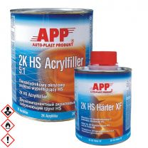 APP 2K Acrylfüller XF HS Filler 5:1+ 2K HS Härter Grau 1,2 kg