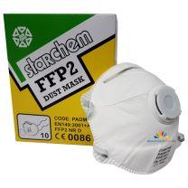FFP2 D Halbmaske Maske Lackiermaske mit Ventil Partikelmaske Lack, 10 Stück