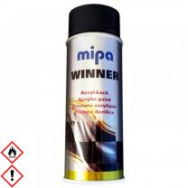 Mipa Winner Acryl-Lack, Spray, schwarz seidenglanz 400 ml