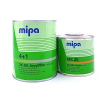 2K-HS-Acrylfiller, Dickschichtfüller oder Kompaktfüller 4:1 MIPA, hellgrau 1 Liter mit Härter MS25 0,5 Liter
